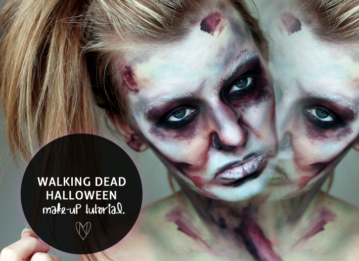 the walking dead halloween makeup a tutorial zoe newlove