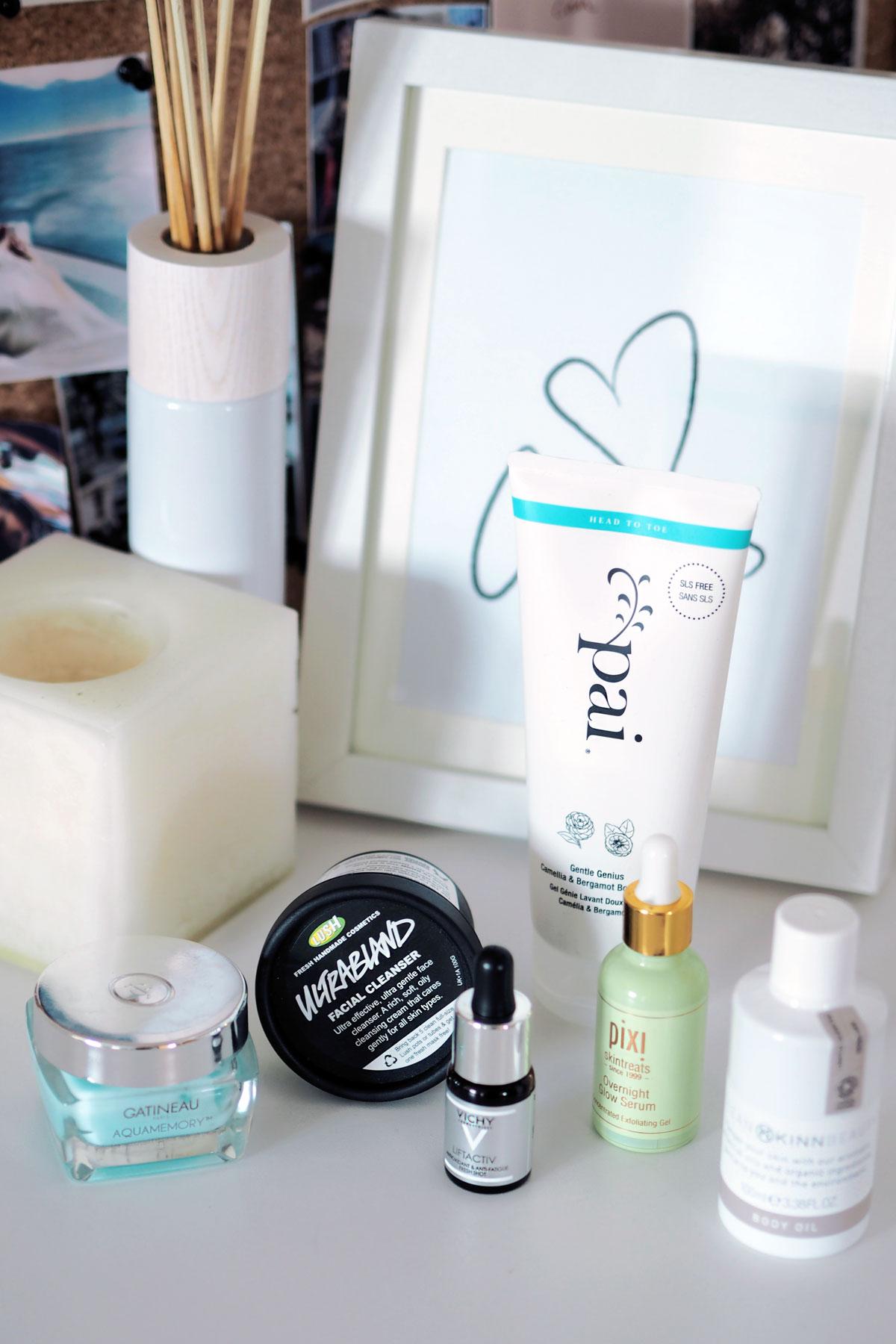 beauty products vichy lift activ serum pai gentle body wash pixi overnight glow serum lush ultrabland cleanser